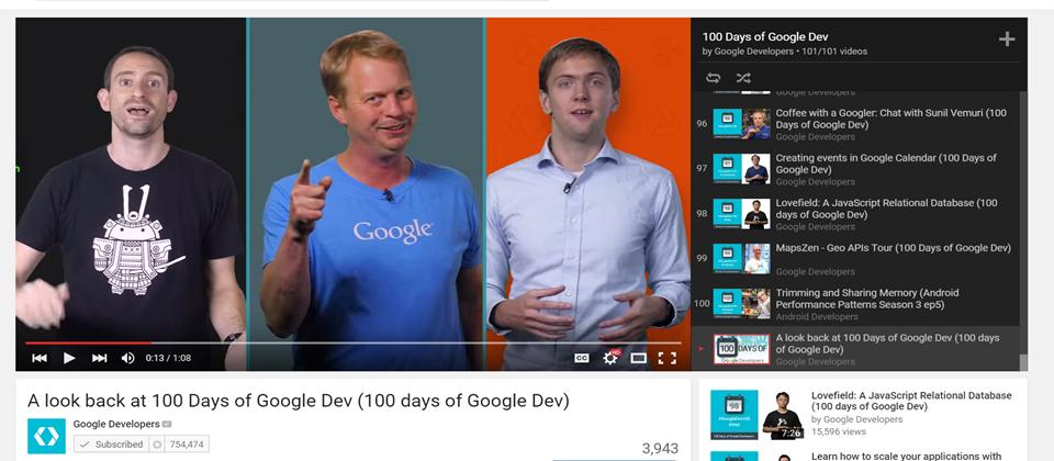 100堂Google開發課筆記大整理(上篇),超多影片!