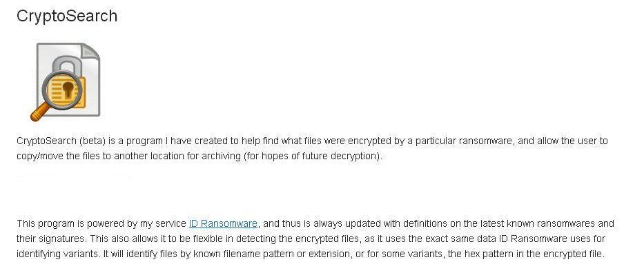 研究人員釋出CryptoSearch,找出被勒索軟體加密的檔案先備份日後再解