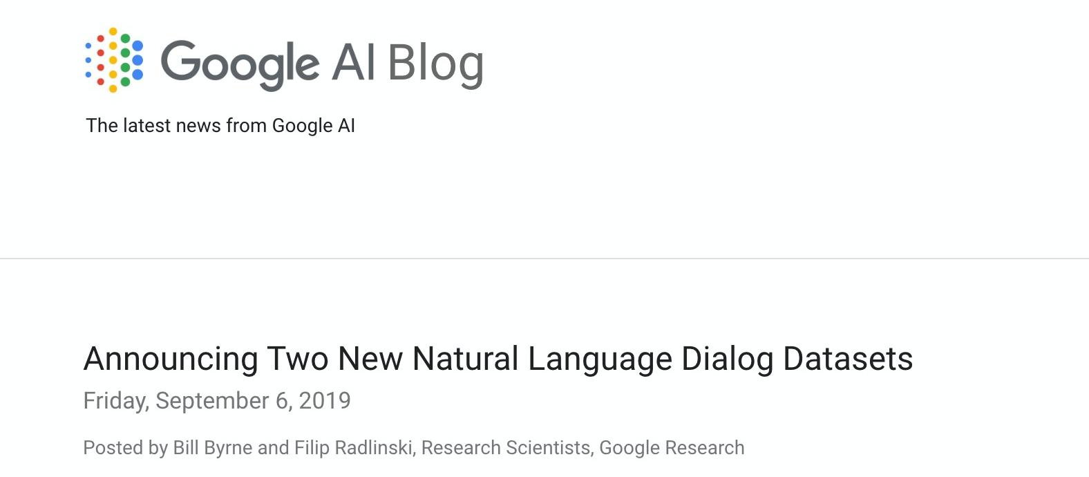 Google釋出兩神經語言對話資料集| iThome