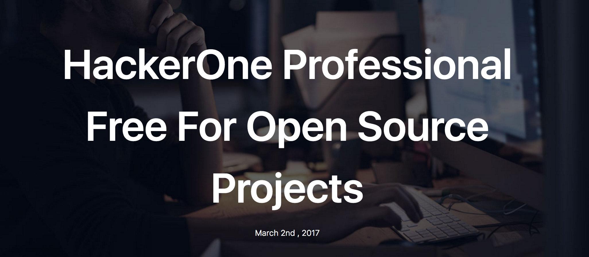 HackerOne將免費幫符合資格的開源碼專案抓漏 | iThome