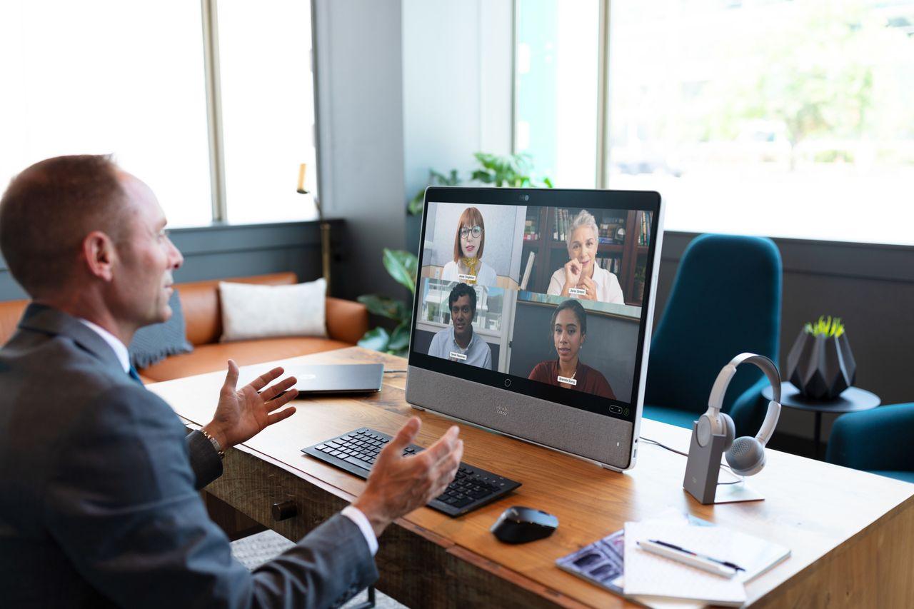 整合27吋觸控螢幕與雲服務,思科推新桌上型視訊設備  iThome