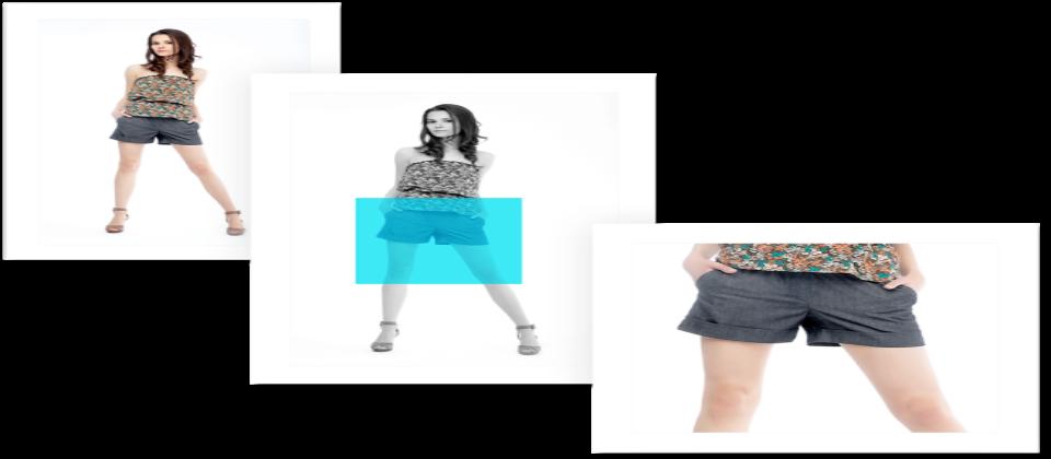 根據不同螢幕大小,Adobe Experience Manager 6.4能夠智慧截圖,比如在電腦上顯示全身套裝、在手機則顯示上衣或短褲,以達到最佳的顯示效果。