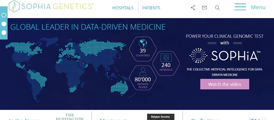 Sophia Genetics用AI演算法與全球醫院合作,讓癌症臨床診斷往前跨了一大步。