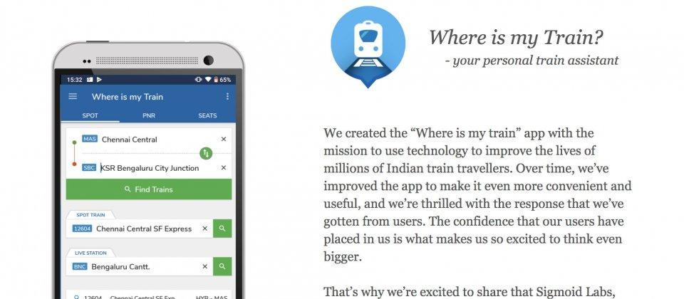 Google買下印度知名火車追蹤程式Where is my Train | iThome