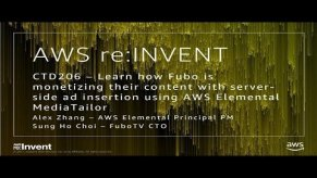 Embedded thumbnail for AWS re:Invent 2017: NEW LAUNCH! Learn how Fubo is monetizing their content with serv (CTD206)