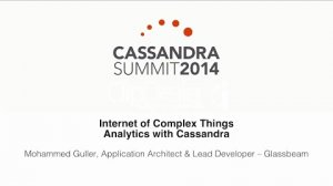 Embedded thumbnail for Glassbeam: Internet of Complex Things Analytics with Cassandra
