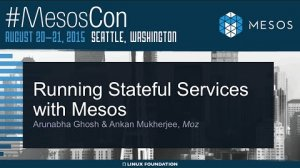 Embedded thumbnail for Stateful Services with Mesos