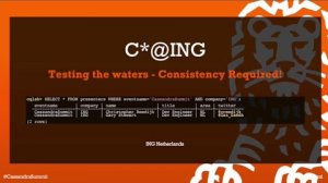 Embedded thumbnail for Apache Cassandra at ING — Testing the Waters – Consistency Required!