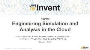 Embedded thumbnail for AWS re:Invent 2015   (CMP202) Engineering Simulation and Analysis in the Cloud