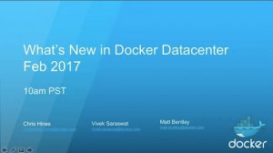 Embedded thumbnail for What's New in Docker Datacenter with Engine 1.13 and Docker Security Scanning