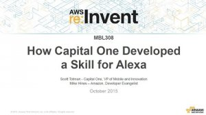 Embedded thumbnail for AWS re:Invent 2015 | (MBL308) Extending Alexa's Built-in Skills. See How Capital One Did It