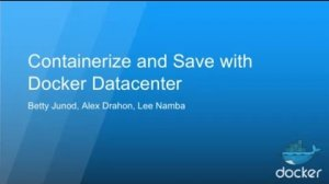 Embedded thumbnail for Containerize Existing Apps to Save Money, with Docker