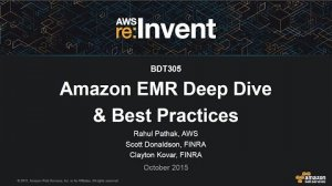 Embedded thumbnail for AWS re:Invent 2015 | (BDT305) Amazon EMR Deep Dive and Best Practices