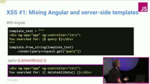 Embedded thumbnail for Security in the world of JS frameworks | JSConf EU 2015