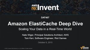 Embedded thumbnail for AWS re:Invent 2015 | (DAT407) Amazon ElastiCache: Deep Dive