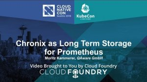 Embedded thumbnail for Chronix as Long Term Storage for Prometheus by Moritz Kammerer, QAware GmbH