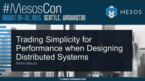 Embedded thumbnail for Keynote: Trading Simplicity for Performance When Designing Distributed Systems
