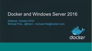 Embedded thumbnail for Docker for Windows Server 2016