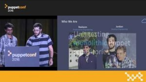 Embedded thumbnail for Turning Pain Into Gain: A Unit Testing Story – Nadeem Ahmad & Jordan Moldow at PuppetConf 2016