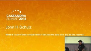 Embedded thumbnail for What is in All of Those SSTable Files (John Schulz, The Pythian Group)   Cassandra Summit 2016