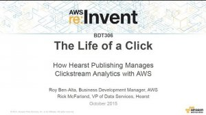 Embedded thumbnail for AWS re:Invent 2015   (BDT306) How Hearst Publishing Manages Clickstream Analytics with AWS