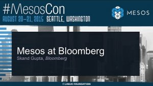 Embedded thumbnail for Mesos at Bloomberg