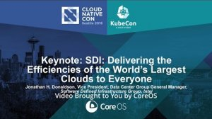 Embedded thumbnail for Keynote: SDI: Delivering the Efficiencies of the World's Largest Clouds to Everyone