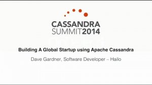 Embedded thumbnail for Hailo: Building A Global Startup using Apache Cassandra