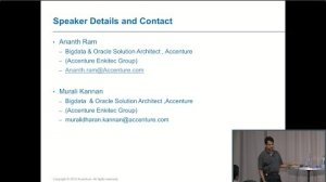 Embedded thumbnail for 20+ Billion Txns in Oracle vs C*/Spark/Kafka (Ananth Ram, Murali Kannan, Accenture) | C* Summit 2016