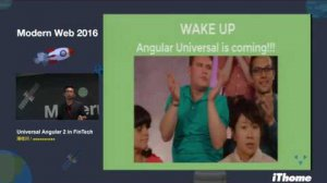 Embedded thumbnail for Modern Web 2016 - Universal Angular 2 in FinTech