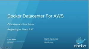 Embedded thumbnail for Docker Datacenter for AWS