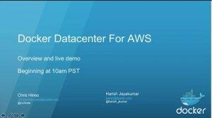 Embedded thumbnail for Docker Datacenter for AWS