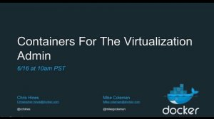Embedded thumbnail for Containerization for the Virtualization Admin