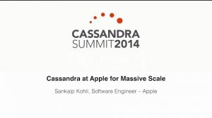 Embedded thumbnail for Apple Inc.: Cassandra at Apple for Massive Scale