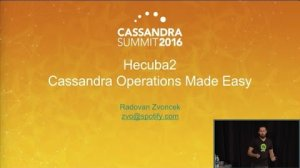 Embedded thumbnail for Hecuba2: Cassandra Operations Made Easy (Radovan Zvoncek, Spotify) | C* Summit 2016