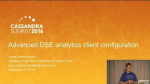 Embedded thumbnail for DataStax | Advanced DSE Analytics Client Configuration (Jacek Lewandowski) | C* Summit 2016