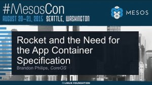 Embedded thumbnail for Rocket and the Need for the App Container Specification