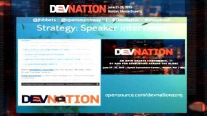 Embedded thumbnail for DevNation 2015 - Community building the open source way