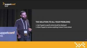 Embedded thumbnail for Deconfiguration Management: Making Puppet Clean Up Its Own Mess – Josh Snyder at PuppetConf 2016