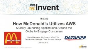 Embedded thumbnail for AWS re:Invent 2015   (ISM212) McDonald's Uses AWS to Launch Global Applications Quickly