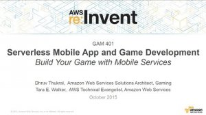 Embedded thumbnail for AWS re:Invent 2015 | (GAM401) Build a Serverless Mobile Game with Amazon Cognito, Lambda & DynamoDB