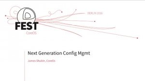 Embedded thumbnail for Next Generation Config Management