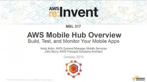 Embedded thumbnail for AWS re:Invent 2015   (MBL317) NEW! Introducing AWS Mobile Hub