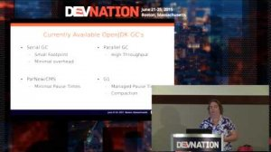 Embedded thumbnail for DevNation 2015 - Shenandoah: An ultra-low pause time garbage collector for OpenJDK