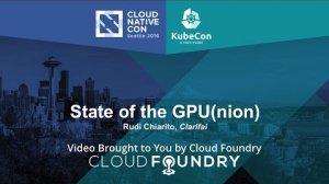 Embedded thumbnail for State of the GPU(nion) by Rudi Chiarito, Clarifai