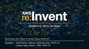 Embedded thumbnail for AWS re:Invent 2015 | (MBL205) Everything You Want to Know About IoT