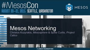 Embedded thumbnail for Mesos Networking