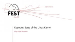 Embedded thumbnail for Keynote: State of the Linux Kernel, Greg Kroah-Hartman