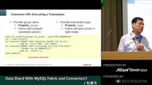 Embedded thumbnail for Data Shard with MySQL Fabric and Connector/J