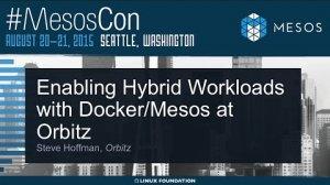 Embedded thumbnail for Enabling Hybrid Workloads with Docker/Mesos at Orbitz